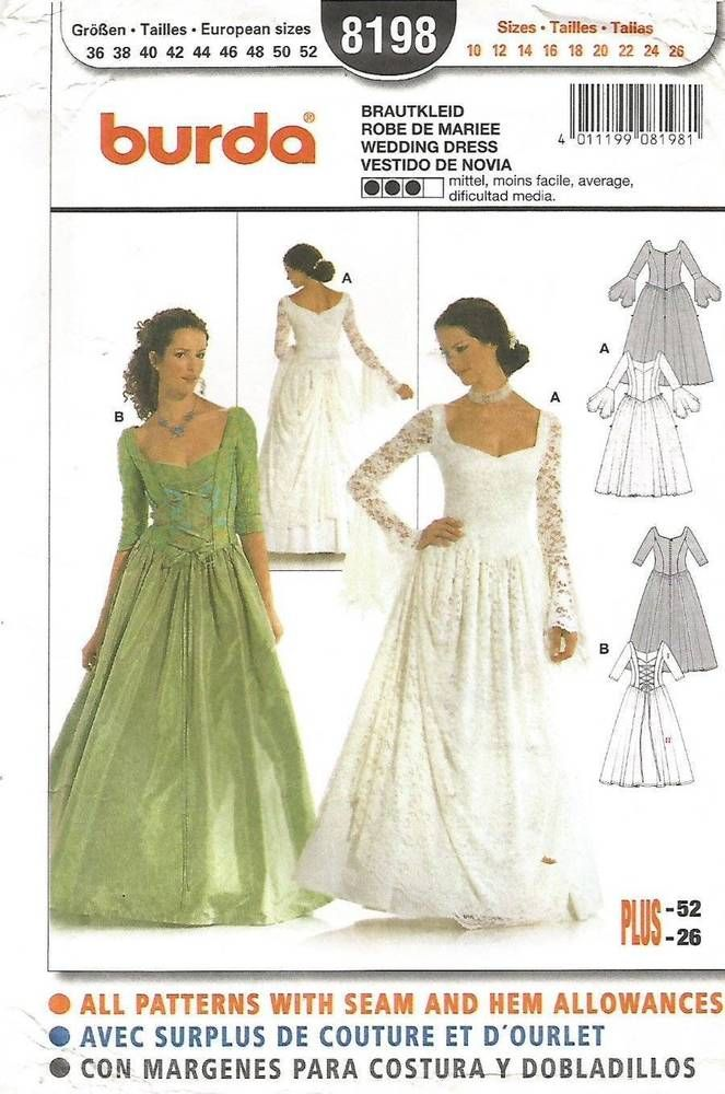 SIMPLICITY 8750 MISSES\' FANTASY, MEDIEVAL, PLAYS, WEDDINGS COSTUME ...
