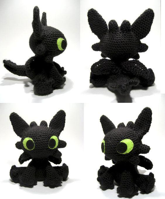 Patrón para hacer a Desdentado // Free crochet Toothless amigurumi ...