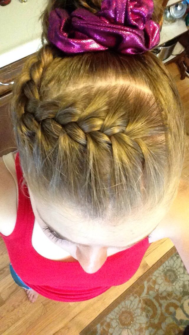 Pin By Liz Lawrence On Little Gymnast Gymnastics Hair