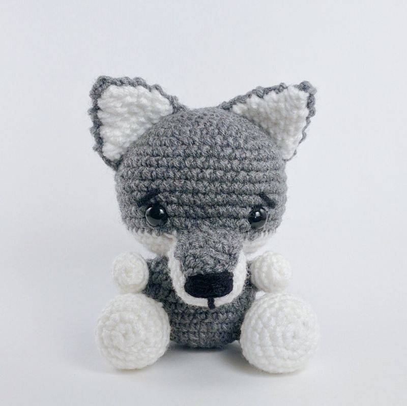 Wilson the Wolf amigurumi pattern by Theresas Crochet Shop | Pinterest