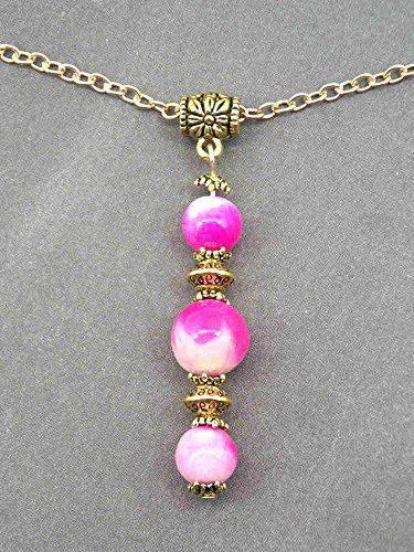 c5b10a774d82 Collar Thurcolas de la gama Pink Addict en blanco natural... https ...