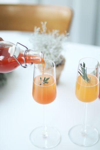 Rezept für weihnachtlichen Aperol Spritz