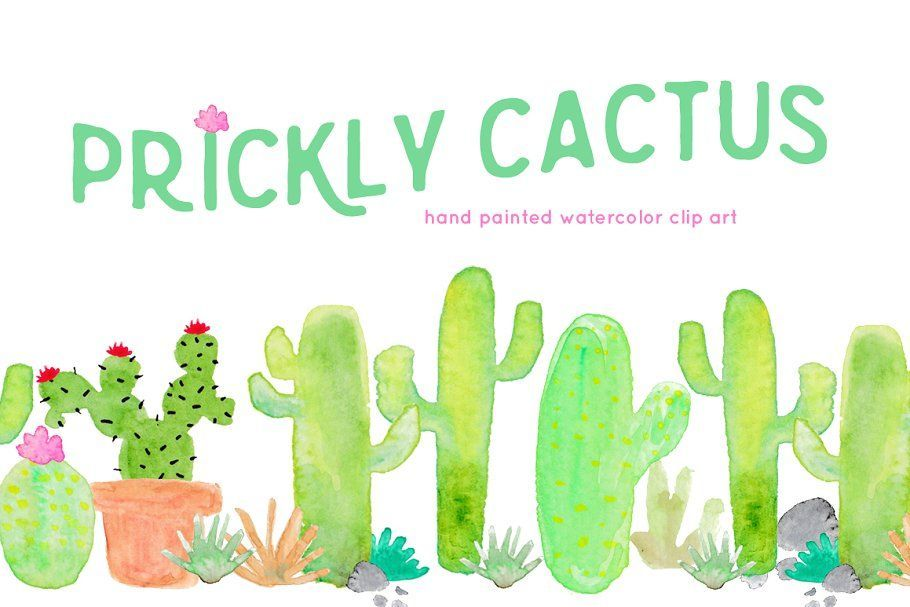 Cactus Watercolor Clip Art ~ Illustrations ~ Creative Market #clipartfreebies Cactus Watercolor Clip Art ~ Illustrations ~ Creative Market #clipartfreebies