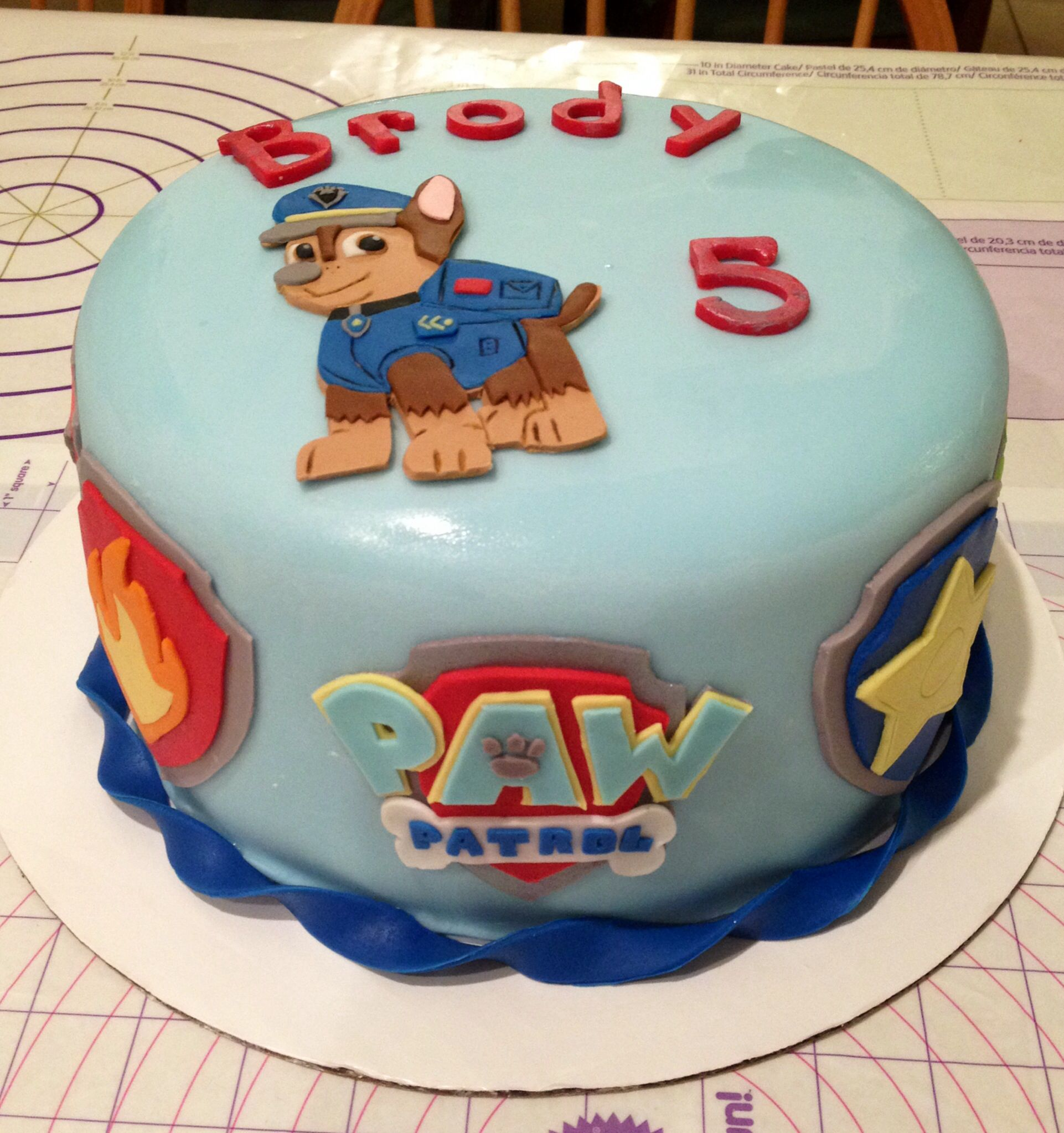 Paw Patrol Birthday Cake Austin