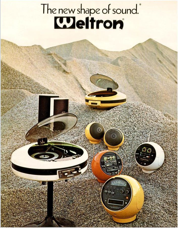 The entire Weltron series (vintage stereo advertisement)