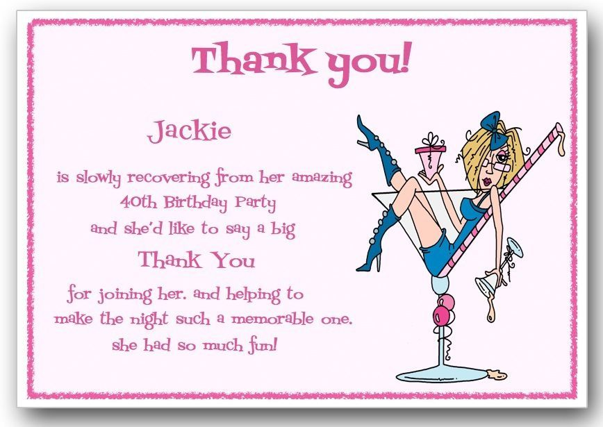 Thank You Cards X10 Personalised 18th 21st 30th 40th 50th 60th 70th Birthday J11 Ebay Personalized Thank You Cards Thank You Cards Birthday