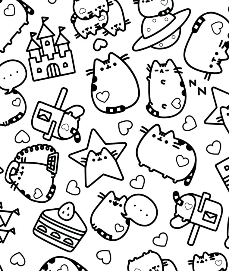 CB - Pusheen | gatito pushen | Colores, Libros para colorear y Libros
