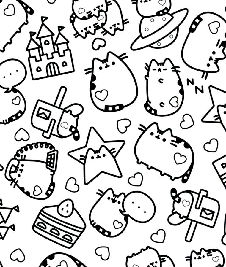 Cb Pusheen Libros Para Colorear Dibujos Bonitos Para Colorear Gatito Para Colorear