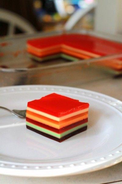 seven layer jello