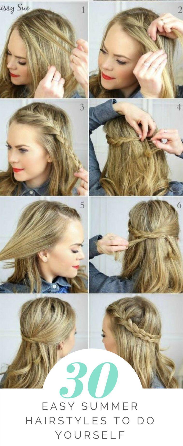 30 Easy Summer Hairstyles To Do Yourself Easy Hairstyles For Medium Hair Hair Lengths Hair Tutorials Easy