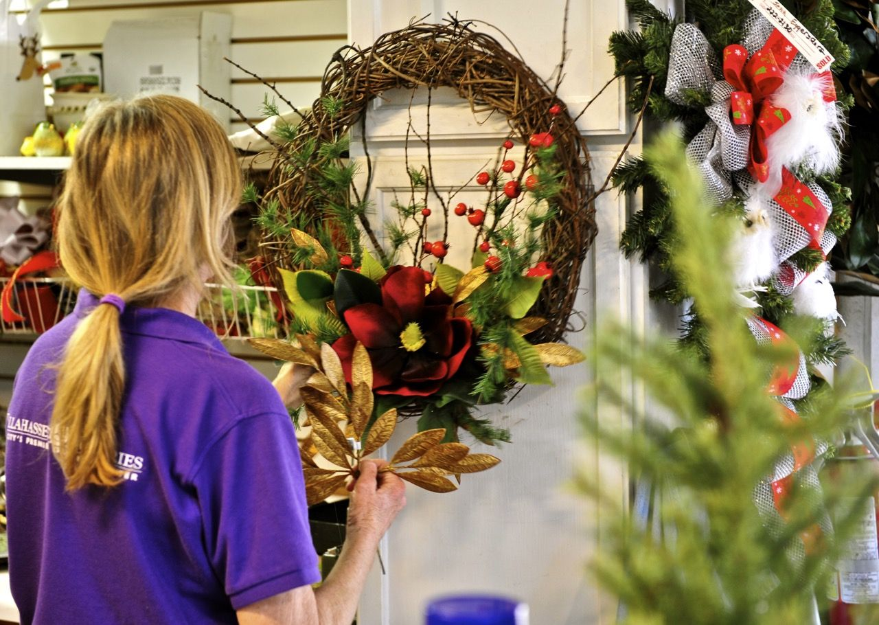 Kelly in action!! #Christmas #wreath