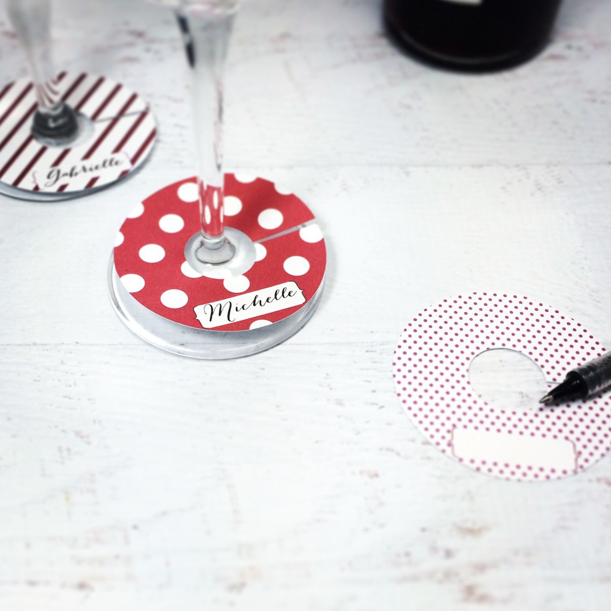 photo about Printable Wine Glass Tags called Totally free Printable Wine Gl Markers for Your Wine Themed