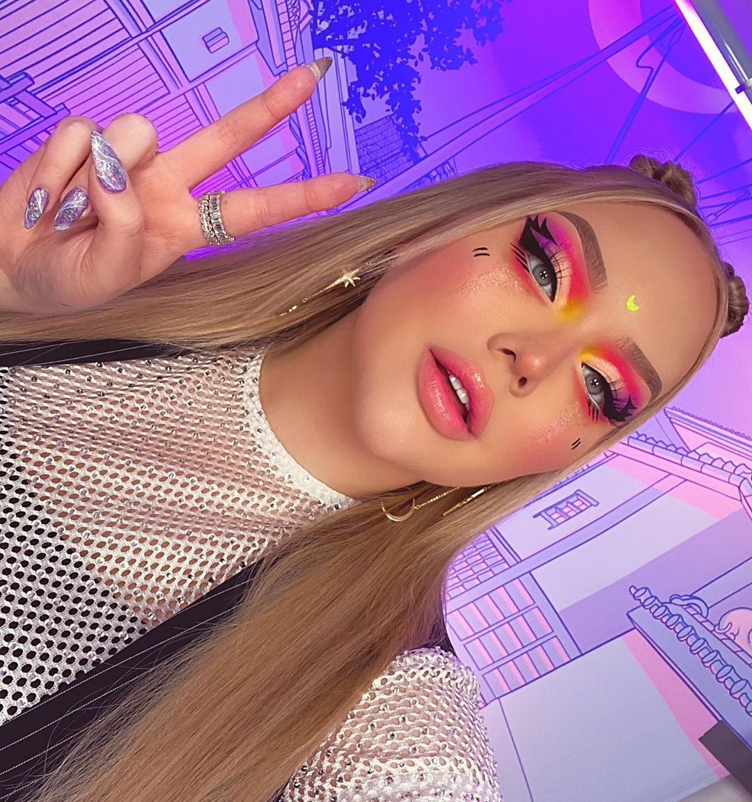 """@nikkietutorials shared a photo on Instagram: """"living my anime fantasy! ✌🏻 wearing the new @colourpopcosmetics Sailor Moon collection ✨ review on my channel 🐸☕️ LINK IN BIO!"""" • Feb 27, 2020 at 9:14pm UTC"""