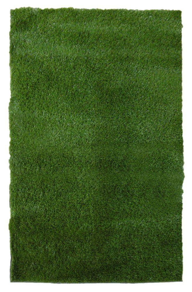 Green Grass Shag Indoor Outdoor Area Rug 8 Feet X 10 Feet