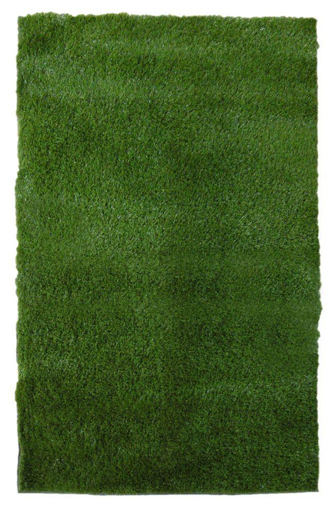 Nice Green Grass Shag Indoor/Outdoor Area Rug 8 Feet X 10 Feet