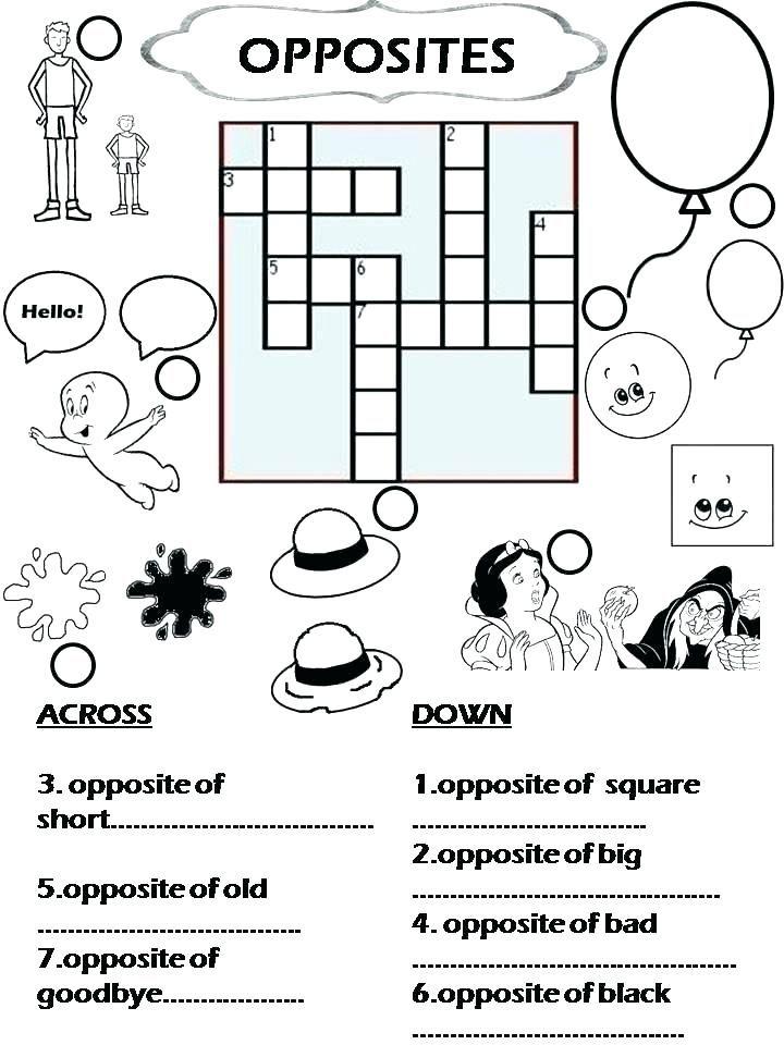 Image Result For Free Esl Printable Worksheets Grade 4 Crossword Puzzles Free Printable Crossword Puzzles Printable Crossword Puzzles