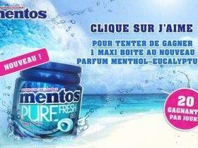 Mentos 160 Boites De Chewing Gum A Gagner Jeu Concours Facebook Jeu Concours Jeux Concours Gratuits