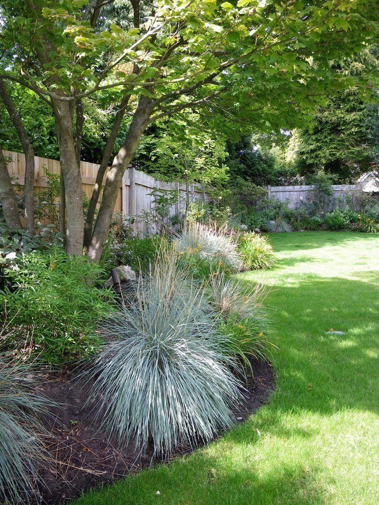 Curve Landscape Design Landscape Contemporary With Perimeter Garden Perimeter Garden Vine Maple Backyard Landscaping Designs Landscape Design Backyard Design