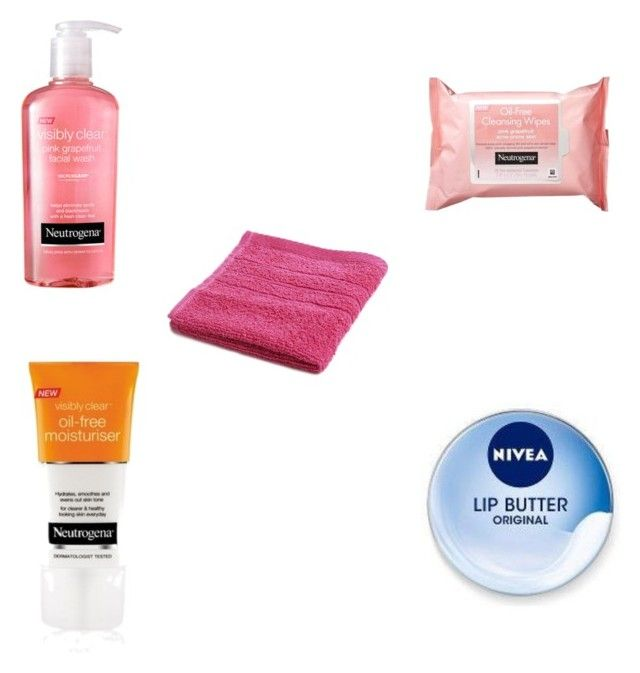 """""""Cleansing my face"""" by lilydeveney on Polyvore featuring beauty, Neutrogena and Nivea"""