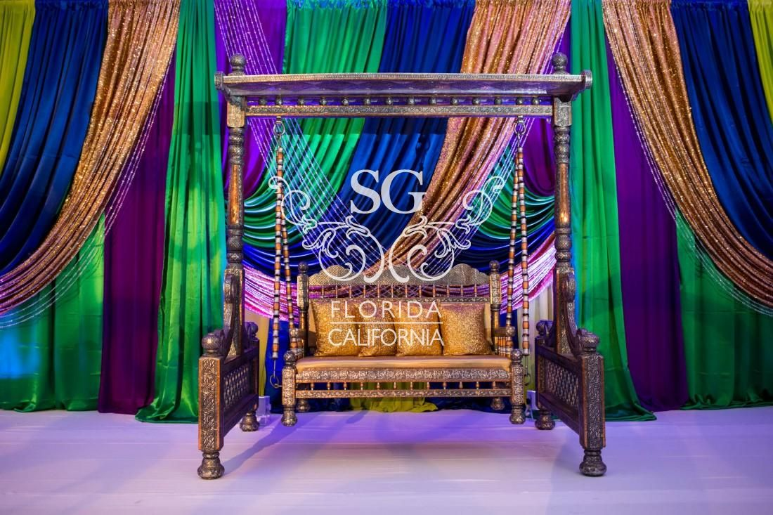 wedding stage decoration pics%0A Nicole Deven Sangeet Decor                  Wedding StageWedding DecorGala