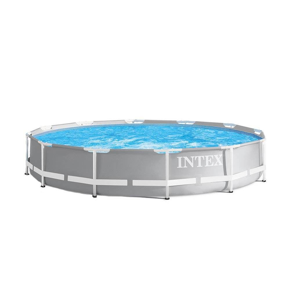 Intex 26710eh 12ft X 30in Prism Metal Frame Outdoor Above Ground Swimming Pool With Easy Set Up And Fits Up To 6 People Filter Pump Not Included Above Ground Swimming Pools Easy