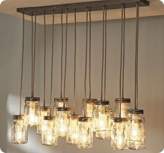 Make your own mason jar chandelier inspired by pottery barns exeter