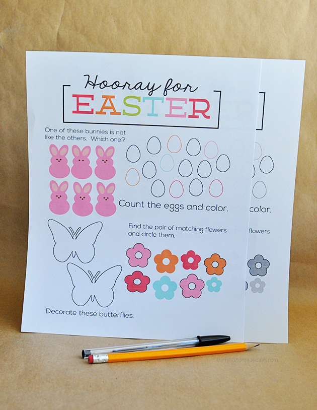 Printable Easter Worksheet   Pinterest   Worksheets  Easter and Printing Printable Easter Worksheet   print and have kids fill in    Thirty Handmade  Days