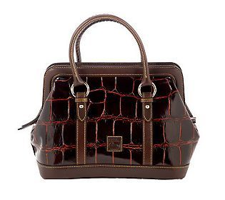 Dooney Bourke Croco Embossed Leather Mitchell Bag A230011
