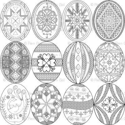 The Art Of Making Ukrainian Eggs Pysanky Dates Back Over 2 000 Years When Ukrainian Peasa Pysanky Eggs Pattern Easter Egg Designs Easter Egg Coloring Pages