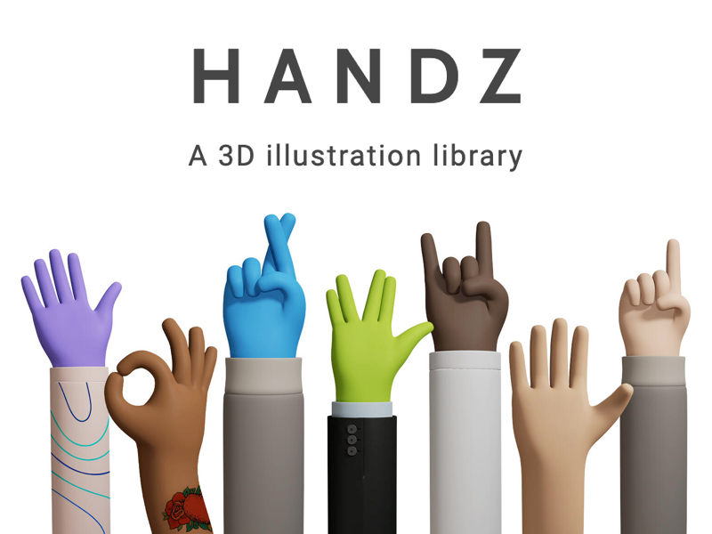 This Is Free 3d Hands Gestures Library For Any Occasion 12 Hands Gesture With 9 Color Skins And 3 Variations Of Slee Hand Illustration 3d Illustration 3d Hand