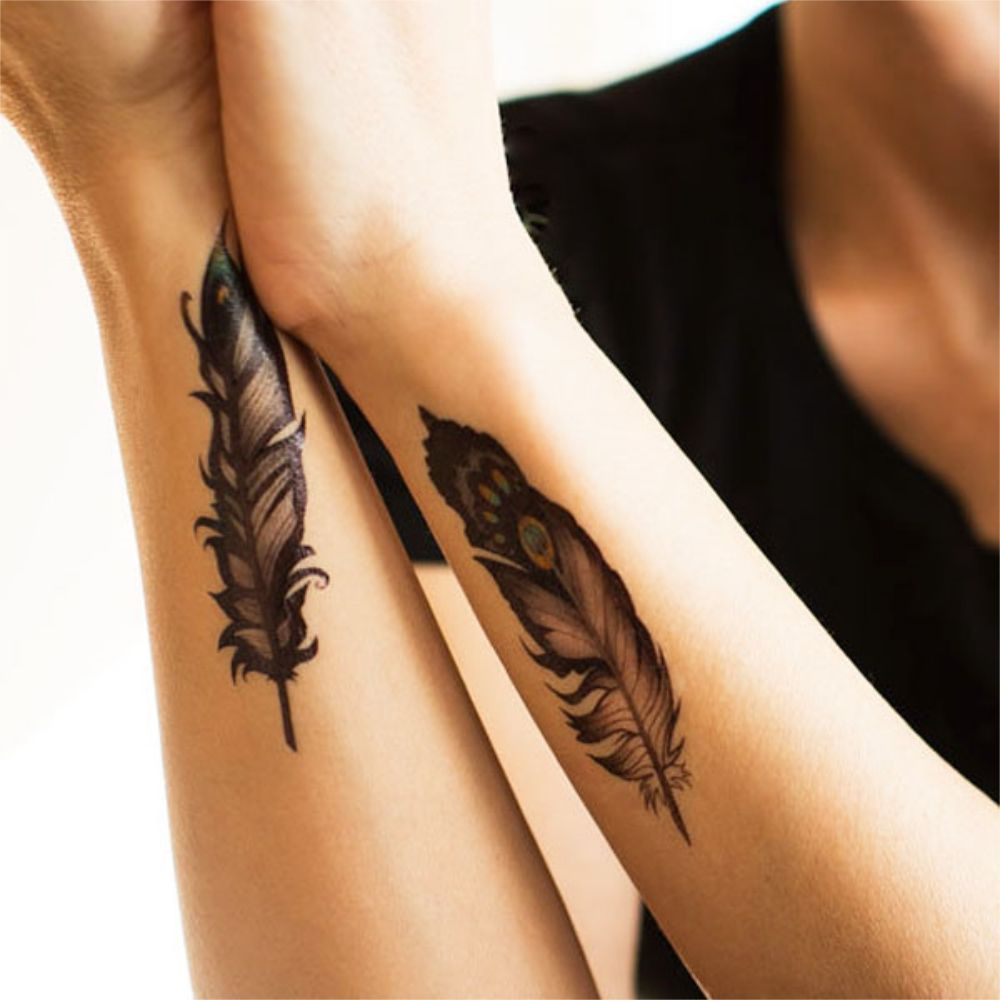 Feathers Temporary Tattoo Tattoos Weird Tattoos Temporary Tattoo Designs