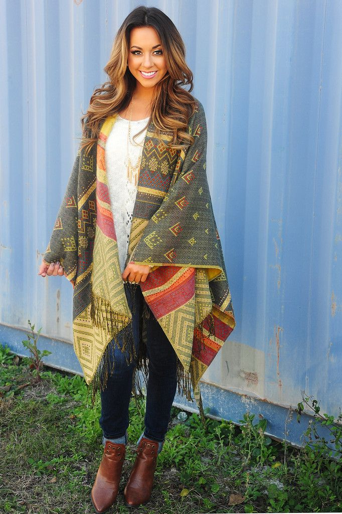 Chasing Fireflies Poncho: Multi #shophopes