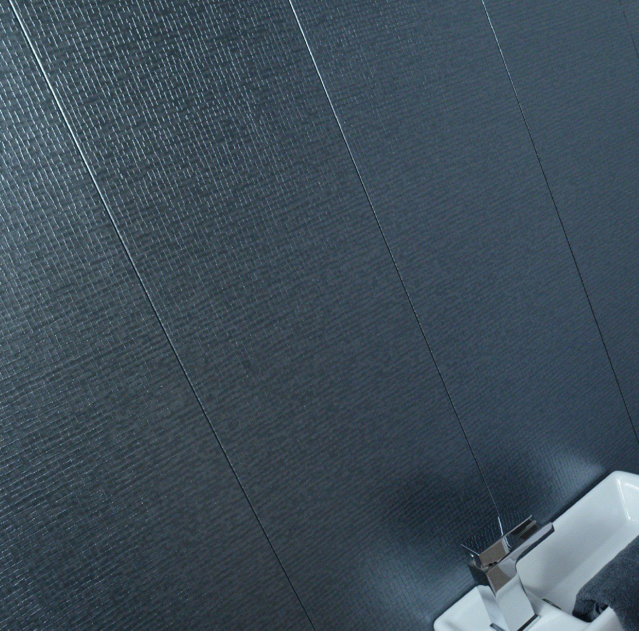 Claddtech Delux Large Wall And Ceiling Panels Mineral Montage Dark Shimmer Grey Textured Boar Bathroom Wall Tile Design Bathroom Paneling Large Tile Bathroom