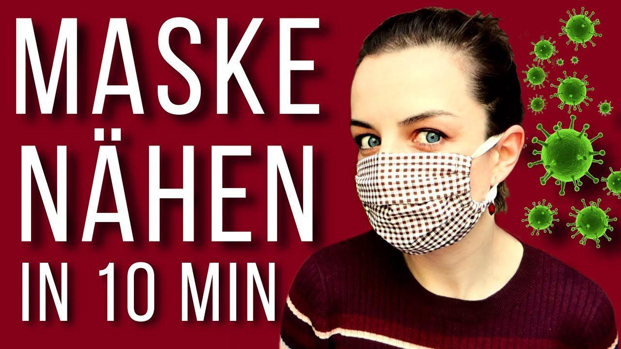Mundschutz selber nähen deutsche Anleitung ohne