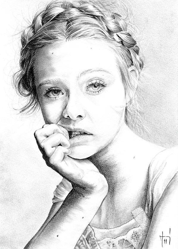 Elle Fanning Portrait Drawing Portrait Painting Inspiration