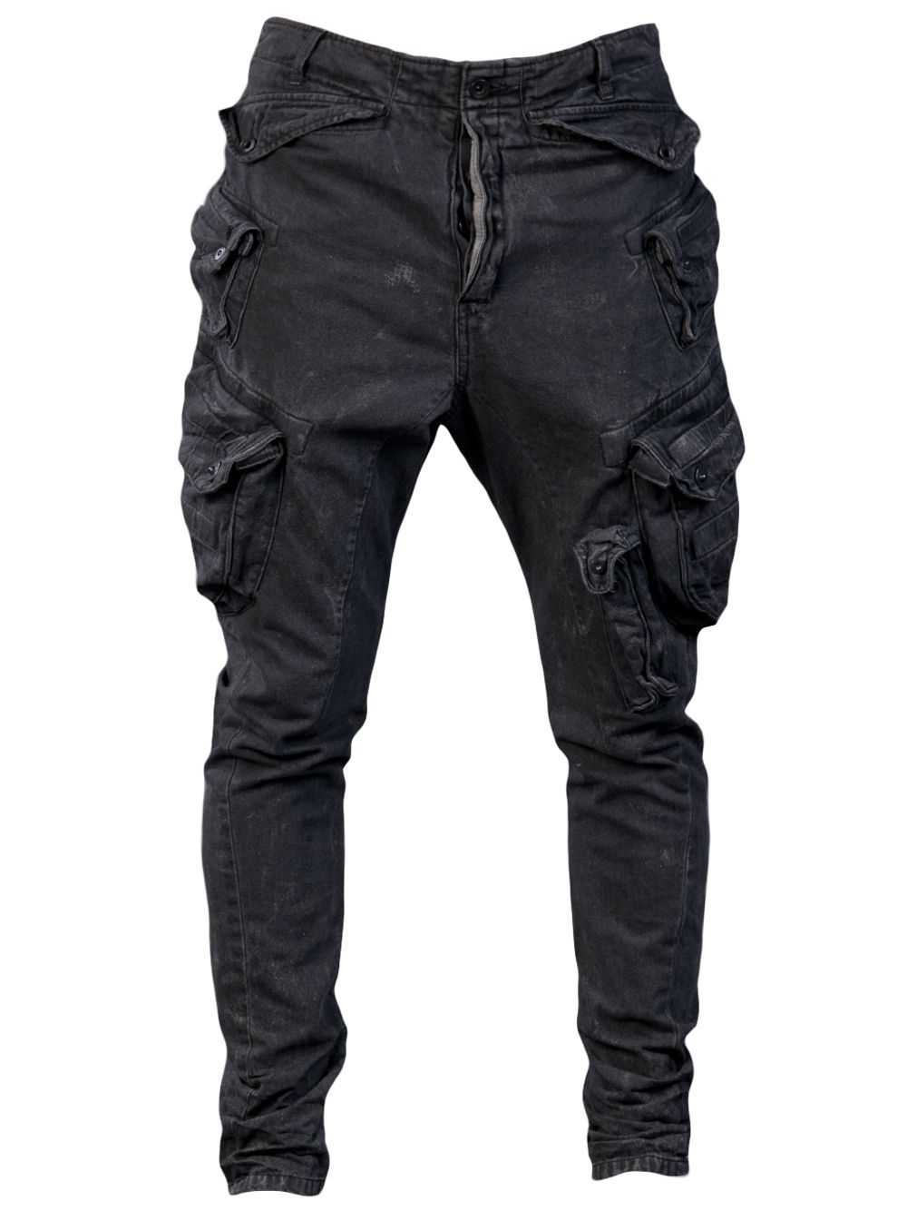 Cool Men/'s Multi Cargo Jeans Harem Gothic Punk Slim Fit Biker Casual Pants Denim