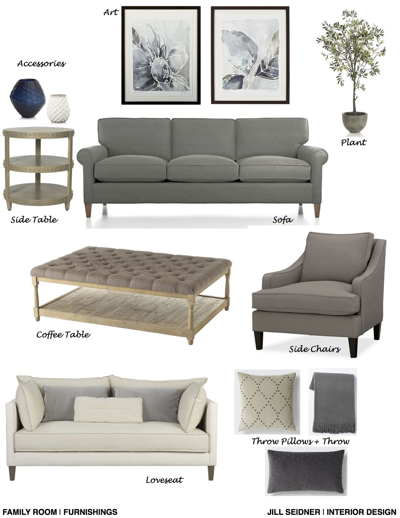 Columbus, GA Online Design Project Family Room Furnishings Concept ...