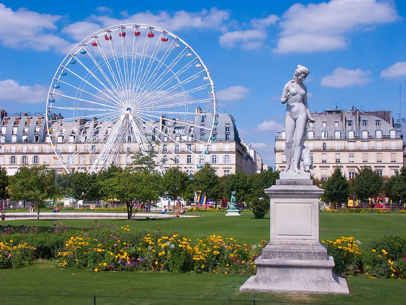 * Jardim das Tulherias * # Paris, França.