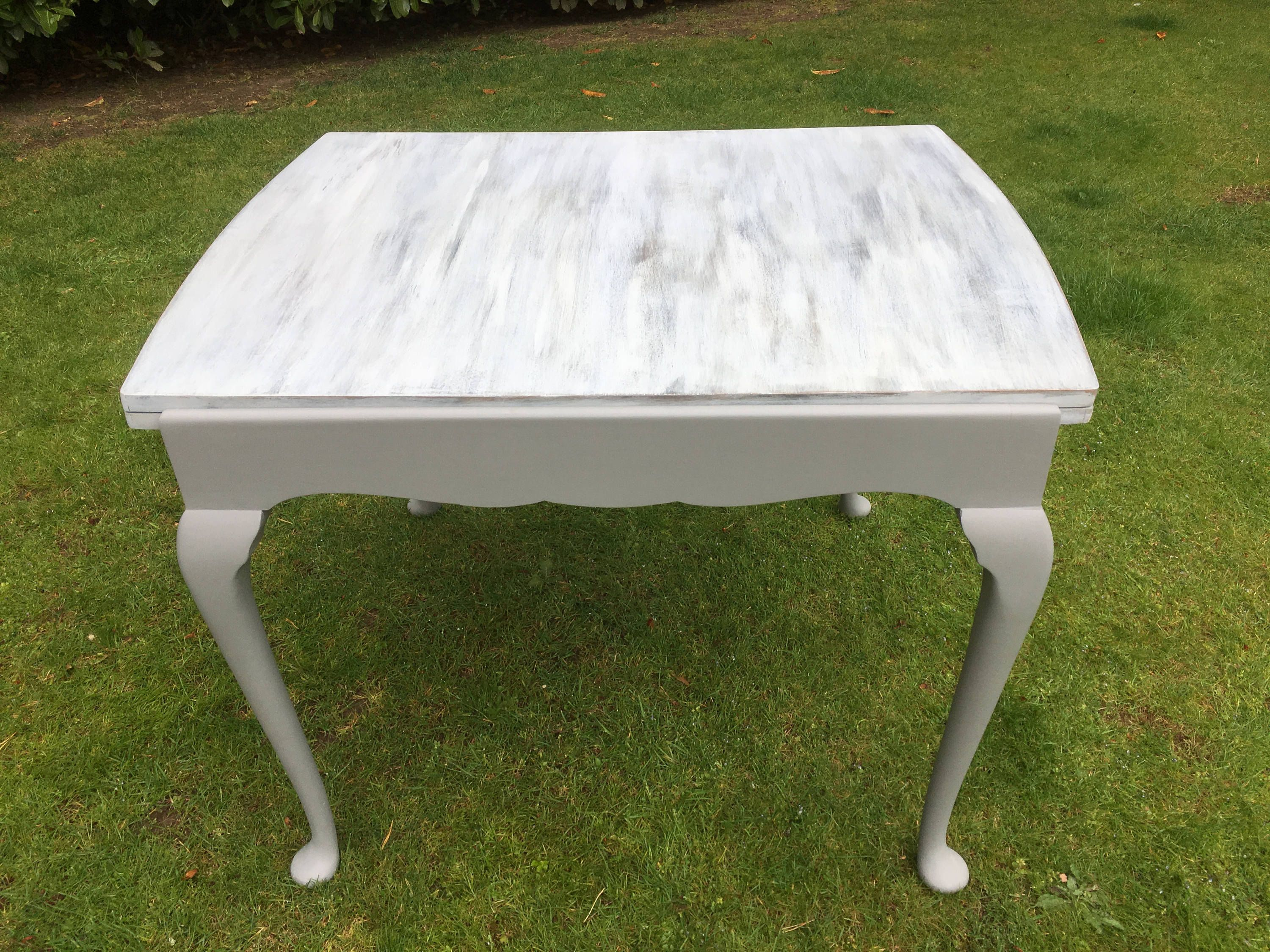 hand painted vintage solid wood extending dining table by on hand painted dining room tables id=78184