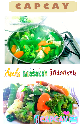 Capcay Recipe Indonesian Chinese Ingredients 3 Beefballs 2 Sausages 3 Leaves Chinese Cabbage 1 Bunch Choy Sum 150g Bean Curd Skin Food Indonesian Food