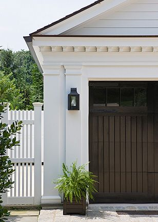 Great Garage Doors And Distinct Architectural Details ~ Nice Coach Light  Too ❀ ~ ◊ Photo