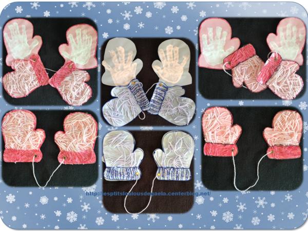Extrêmement Bricolage enfants pour l'hiver. Petites mains bien au chaud  KA14