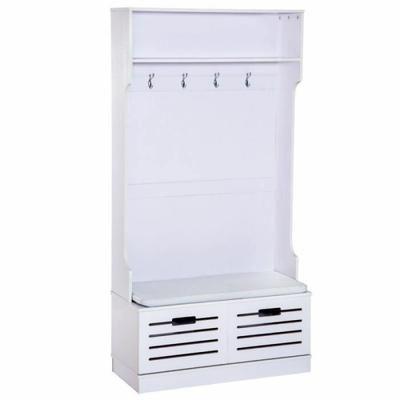 Meuble du0027entrée penderie avec grande banquette et tiroirs Grand - meuble de rangement avec tiroir
