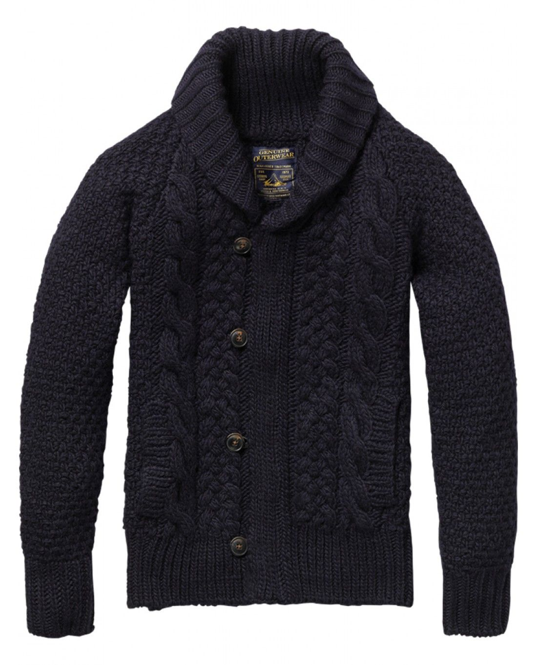 Heavy cable knitted zip-through cardigan - Pulls - Scotch & Soda ...
