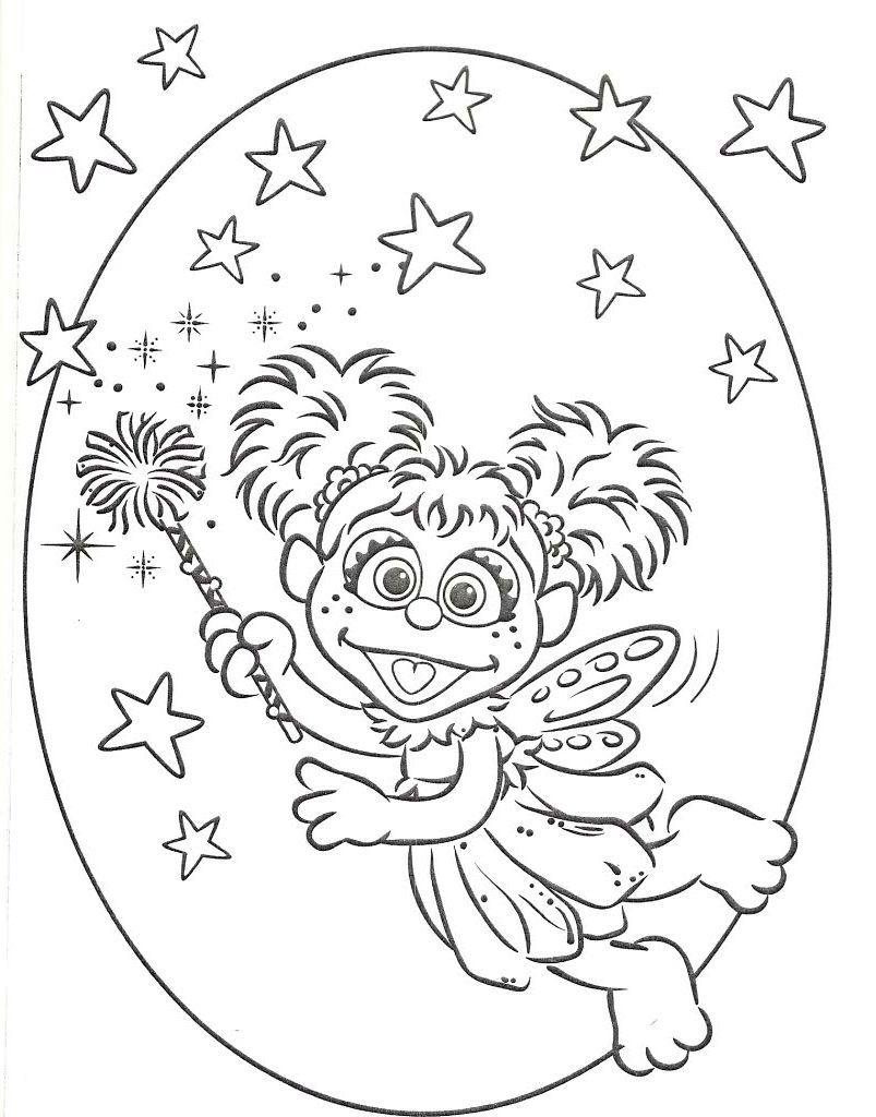 Abby Cadabby Coloring Pages for Kids - Enjoy Coloring | Coloring ...