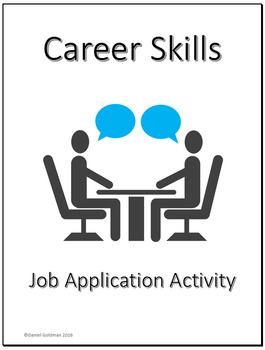 Business And Career Skills  Job Application Lesson Activity