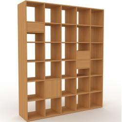 Photo of Holzregal Eiche – Modernes Regal aus Holz: Schubladen in Eiche & Türen in Eiche – 195 x 233 x 47 cm