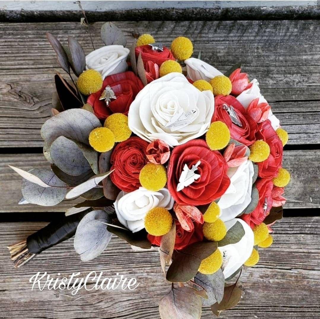 red gold yellow bouquet bridal bouquet wedding bouquet sunflower bouquet sola wood flowers