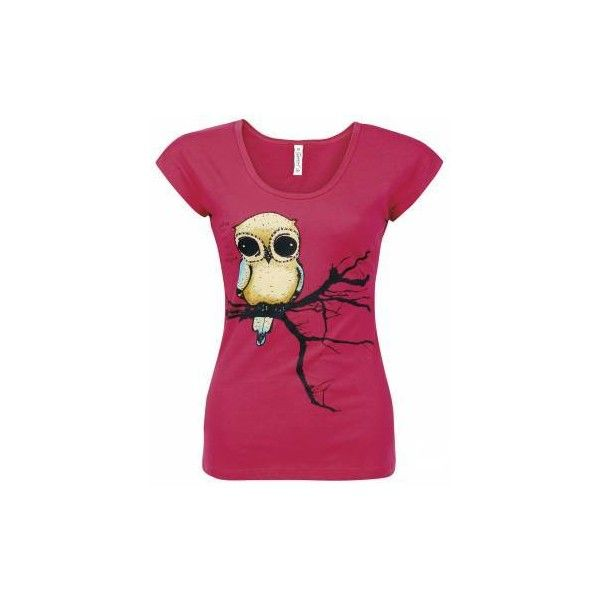EZEKIEL | FLY RIGHT [FARBE: PINK] | GIRLIE-SHIRT | T-Shirts | 100%... ($72) ❤ liked on Polyvore featuring tops, t-shirts, shirts, blusas, metal t shirts, heavy metal shirts, pink tee, purple shirt and purple t shirt