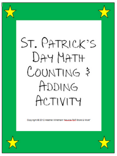 St. Patrick's Day Math Counting Activity